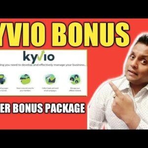 Kyvio Bonus Overview - 👍Huge Bonus Package👍