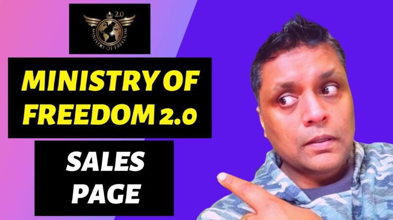 Ministry Of Freedom Sales Page