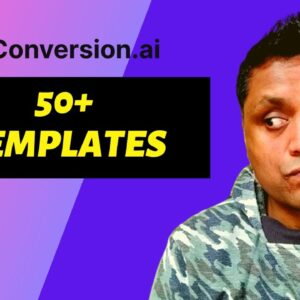 Demo of Conversion.ai Templates from Start to Finish | How to use Conversion.ai Templates